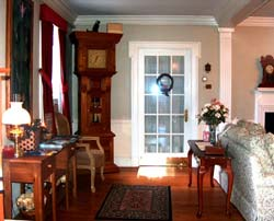 Enjoy books, games and DVDs at our Williamsburg VA bed and breakfast.