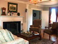 Enjoy the fireplace at our Colonial Williamsburg Inn.