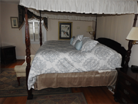 Large Bed in the Magnolia Suite at Magnolia Manor Williamsburg Bed and Breakfast